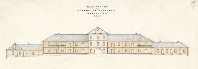 Ground plan of Prisoners' Barracks, Moreton Bay, 1838