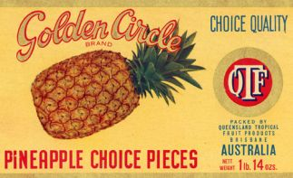 Golden Circle brand pineapple lable