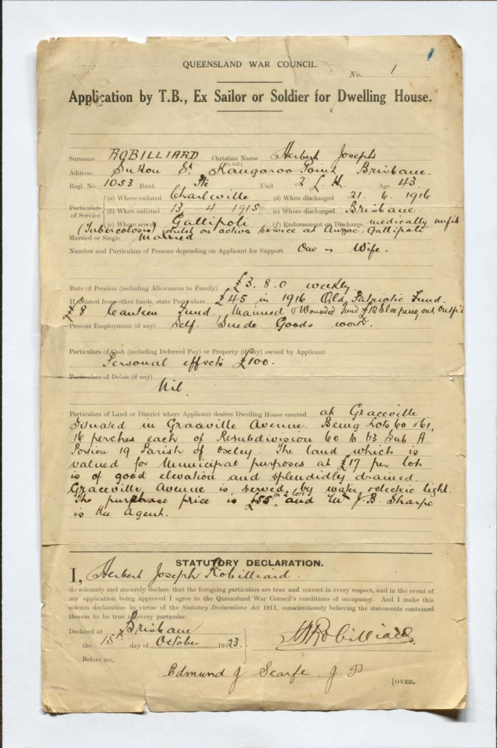 Applications and supporting documentation by T.B. ex-sailors or soldiers for a dwelling house, part 2, 1923-1932