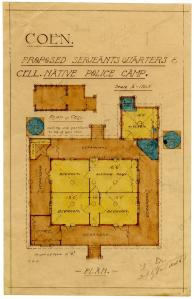 Plan of proposed Sergeants Quarters 1910-1919 DID 26853