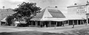 Corner of George and Elizabeth Streets, Brisbane, c 1912