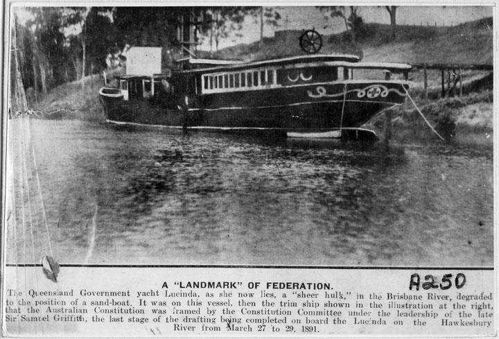 Queensland Government yacht Lucinda, Brisbane River