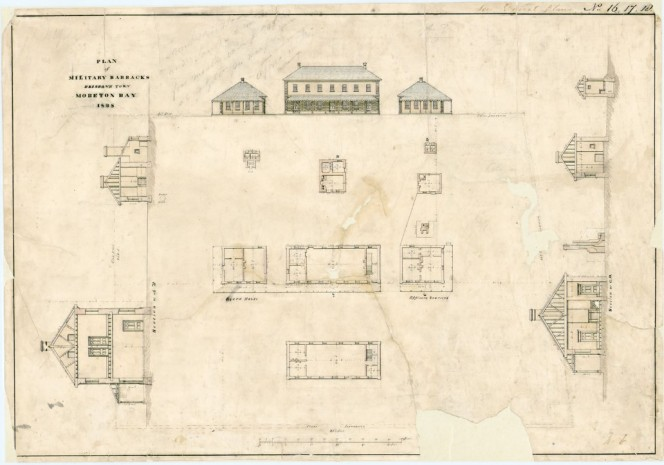 Plan of Military Barracks, Brisbane Town, Moreton Bay, 1838