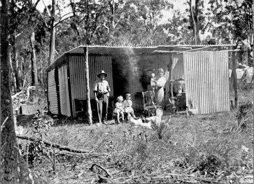 An early settler, Beerburrum, December 1916