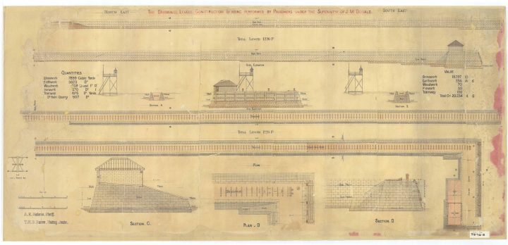 Architectural plan of St Helena prison, 1868