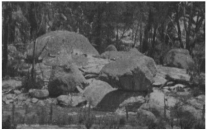 Enlargement of beaked rock
